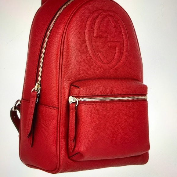 cdee9e83c NWT GUCCI SOHO LEATHER CHAIN BACKPACK IN RED. NWT. Gucci.  M_5c9a25b79539f7145e8599d4. M_5c9a25b9aa87704cfc418b7e.  M_5c9a25bbaaa5b80d65db2d82